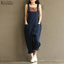ZANZEA 2016 Casual Rompers Womens Jumpsuits Sleeveless Backless Casual Loose