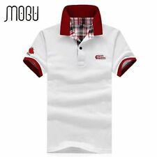 2016 Fashion Summer New Men's Short Sleeve white Polo Shirt Solid Color Plus