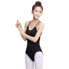 Latest Lady's Leotard Ballet Dance Bodysuit Back Strappy Dancer Perform Clothing