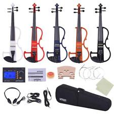 ammoon Full Size 4/4 Solid Wood Electric Violin Silent Style-2 with Tuner J5Q7