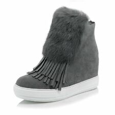 Warm Plush Snow Boots New 2016 Winter Fashion Tassel Ankle Boots Height