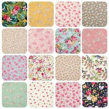100% Cotton Fabric, Rose & Hubble Vintage Roses & Ditsy Floral Material by Metre