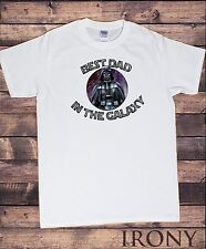 TS841 Best Dad In The Galaxy Funny Fathers Day T-Shirt Father Darth Dad Mens Tee