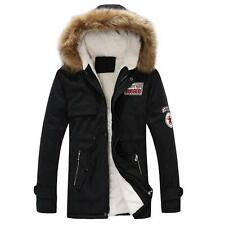 New Fashion Hood Fleece Warm Casual Slim Fit Men Winter Jacket Coat Lovers Parka