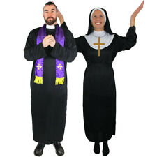 COUPLES NUN AND PRIEST COSTUMES RELIGIOUS CLERGY NOVELTY FANCY DRESS LADIES MENS