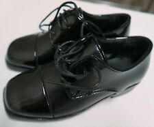 Formal Black Patent Leather BOYS Dress Tuxedo Shoes ~ Size 9, 10, 11, 12 ~