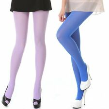 Women 80D OPAQUE Nylon TIGHTS Pantyhose Bright Color Hosiery Large Size High