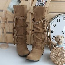 Womens Boots Winter 2016 Botas Mujer Plus Size EU 34-43 Flat Knee High Boots