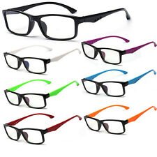 Unisex Clear Lens Glasses 7 Colors Frame Eyewear Fashion Mens Womens Glasses Lot