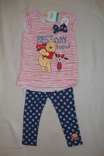"DISNEY  WINNIE THE POOH 2 piece SUMMER TOP & LEGGINGS  NWTS  ""BEST DAY EVER"""