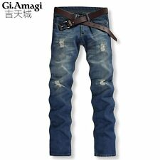 Ripped Jeans Special Offer Stripe 2015 New Hole Emoji Joggers Brand Jeans Men
