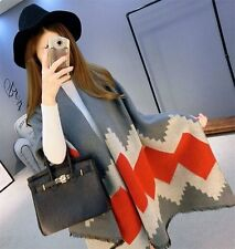 New Arrival Geometric Winter Scarf Warm Pashminas Wool Cashmere Scarf Tippet