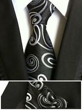 QXY mens fashion ties pocket square tie set men neckties business polyester silk