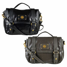 NWT Marc by Marc Jacobs Python Embossed Leather Turnlock Crossbody Messenger Bag