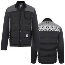 Bellfield Mens Jacket Black Nordic Padded Quilted Winter Puffer Coat Final Stock