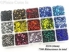 SS10/SS16/SS20 Hot Fix Rhinestones in Storage Box Value Pack