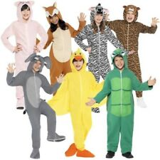 Smiffy's Childs Assorted Party Animals 3D Hooded Jumpsuit Fancy Dress Costume