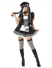Dreadful Doll Gothic Black White Raggedy Ann Doll Costume large 10-12 adult