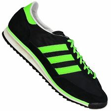 ADIDAS ORIGINALS SL 72 TRAINERS VINTAGE SPECIAL SHOES BLACK NEON GREEN 46 UK 11