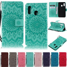 Sunflowers Wallet Leather Flip Case Cover For Samsung S3 S4 S5 S6 S7 S8 S9 Plus