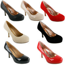 40H NEW WOMENS WORK OFFICE LADIES MID HEEL FORMAL EVENING COURT SHOES SIZE 3-8
