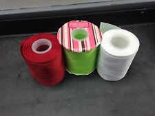 4 Inch Wide Plain Colors HairBow Center Grosgrain Ribbon Sold By The Yard