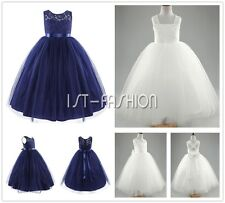 Flower Girl Princess Dress Kids Party Wedding Bridesmaid Prom Tulle Tutu Dresses