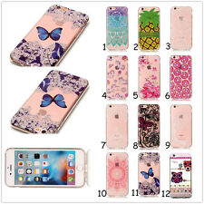 Clear Soft Silicone Paint TPU Rubber Back Case Cover For iPhone/Samsung/Huawei