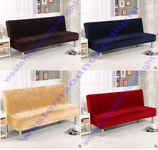 Very Thick Plush Solid Removable Stretch Lounge Covers Sofa Bed Cover Slipcover