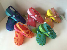 NWT CROCS SHIRLEY GIRLS ORANGE YELLOW PINK PURPLE