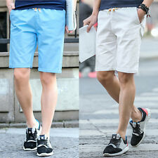 Mens Casual Cotton Pants Baggy Shorts Pockets Cargo Summer Trousers STYLISH NEW