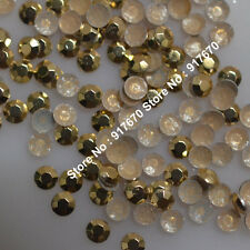 Gold Rhinestuds/Nailheads Hot Fix Iron-On,Rhinestuds faceted Heat Press Studs