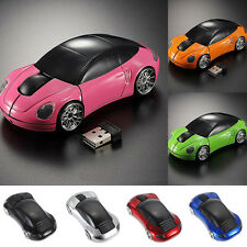 Wireless 2.4G 1600DPI 3D Car Shape Optical Mouse Mice USB Receiver Laptop PC NEW