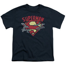Superman CHAIN BREAKING Licensed  Youth T-Shirt S-XL