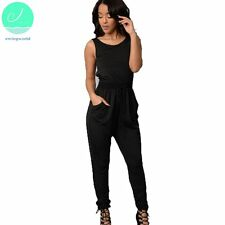 Women Loose Jumpsuit Romper Summer Sexy Backless Sleeveless Trousers Long Pants