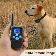 Dog Training Collar Waterproof Rechargeable LCD Electric Remote Shock Collar BE