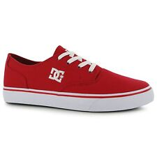 DC Shoes Flash2 Skate Shoes Mens Red Casual Trainers Sneakers