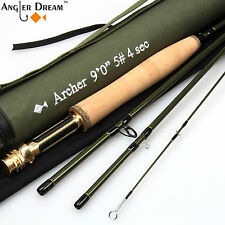 3/4/5/8WT Fly Rod 9FT Fast Action Carbon Fiber Fly Fishing Rod & Cordura Tube