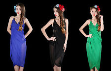 Beautiful Beach Wrap Dress. Black, Blue, Green or Red. Wrap-Around Around.