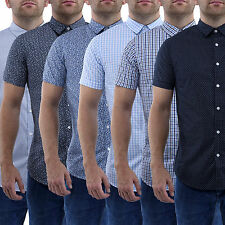 Mens Slim Fit Shirt Casual Cotton Short Sleeved Stallion Collar Top Polo Shirts