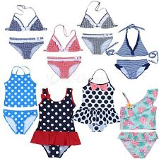 Toddler Baby Girls Kids Tankini Bikini Set Swimsuit Bathing Swimwear Beachwear