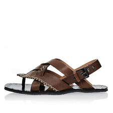 BOTTEGA VENETA New Woman Brown Leather Sandals Shoes made in Italy
