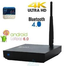4K 3D Android 6.0 HDR Smart TV BOX Quad Core 1080P WiFi Media Player US PLUG