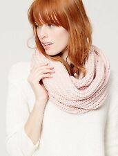 NWT ANN TAYLOR LOFT Shimmer Infused Cozy Knit Infinity Scarf White, Pink, Navy