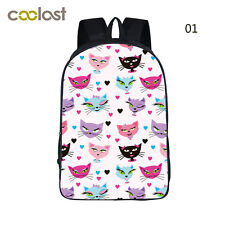 "16"" Backpack Rucksack School & Travel Hiking Boy's Girl's Large Book Bag Cute"