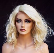 New Fashion Lace Front Wig Charm Womens Short Platinum Blonde Wavy Hot Full wigs