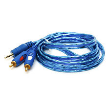 16FT Aux Audio 3.5mm Stereo Male To 2 RCA Y CABLE FOR IPOD MP3