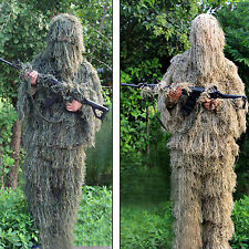 Outdoor woodland / dry grass 3D camouflage suit Ghost Ghillie Suit Average size