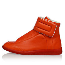 MAISON MARTIN MARGIELA New Men Orange Leather Sneakers shoes Made in Italy