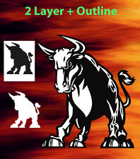 Bull #4 Animal Airbrush Stencil Spray Vision Template